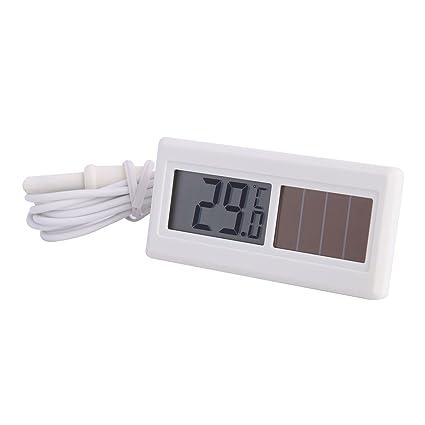 Funciona con energía solar termómetro digital con paneles solares