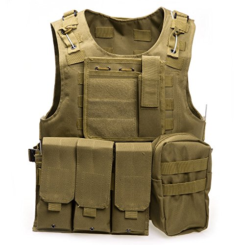 XIAOWANG PUBG Tactical Vest Paintball Airsoft Chest Protector Tactical Vest Outdoor Sports Body Armor by XIAOWANG
