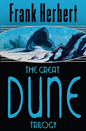 Book cover from The Great Dune Trilogy : Dune, Dune Messiah, Children of Dune (Gollancz) by Frank Herbert