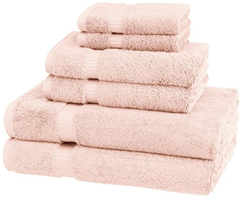 Pinzon Organic Cotton Towels 6 Piece Set, Pale -