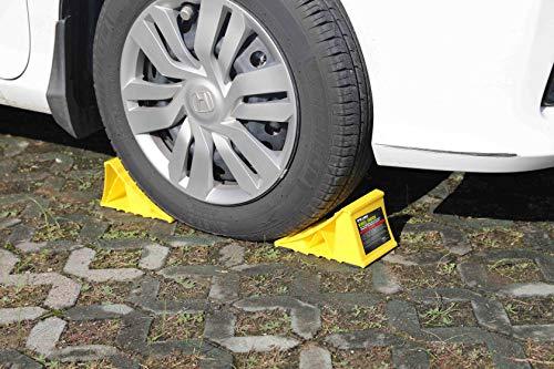 51X JMfuFfL Pr1me 02-013 Unterlegkeil für Reifen, 2 Stück, rutschfest, für die meisten Reifengrößen, einfach aufzustellen