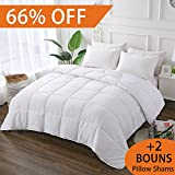 Alternative Comforter - DECROOM White Comforter Set Full Queen Size, 2 Bonus Pillow Shams,Down Alternative Quilted Duvet Insert,3M Moisture-wicking Treament,Light Weight Soft and Hypoallergenic for All Season Blanket