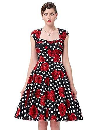 Sleeveless 60s Vintage Swing Dress for Women Size S BP24-9