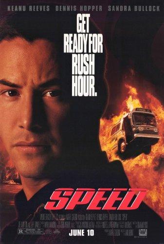 Speed Poster Movie 11x17 Keanu Reeves Dennis Hopper Sandra Bullock Joe Morton
