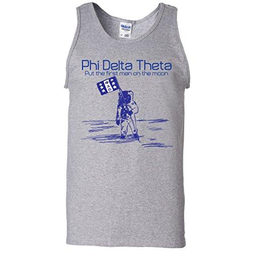 (Phi Delta Theta Tank Top- Put the First Man on the Moon (Medium, Gray))