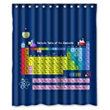 """Periodic Table Shower Curtain (rideau de douche), Shower Rings Included 100% WaterProof Polyester Fabric 60"""" x 72"""" Bath Shower Curtain (rideau de douche)"""