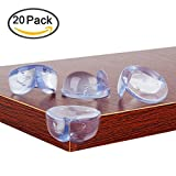 Image of Clear Table Corner Guards Edge Protector with Smile Shape for Home Baby Safety 20 PCS by YOOFOSS