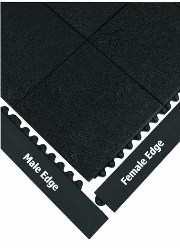 Non Conductive Matting - Wearwell 572.EdgingMGRBK 24/Seven Anti-Fatigue Grease Resistant Heavy Duty Edging, Male, 3