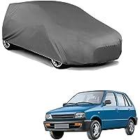 Autofurnish Matty Grey Car Body Cover Compatible with Maruti 800 - Grey