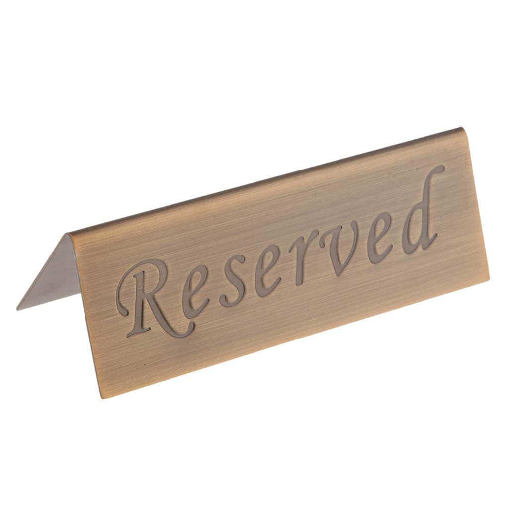 Stainless Steel F Fityle Set of 4 Reserved Signs for Hotel Restaurant Bar Club
