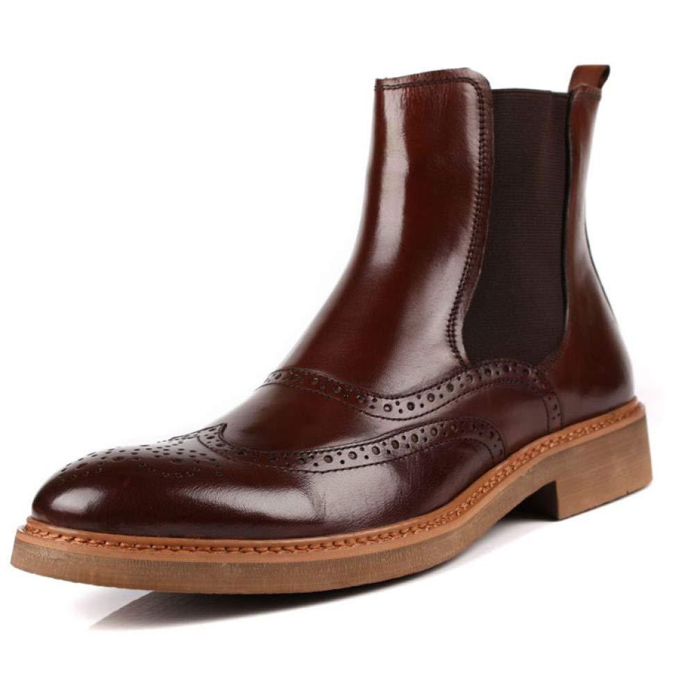 YCGCM Herrenschuhe Geschäft Fuß Freizeit High Carved Komfortable Stilvolle Auf Fuß Geschäft WineROT d5200b