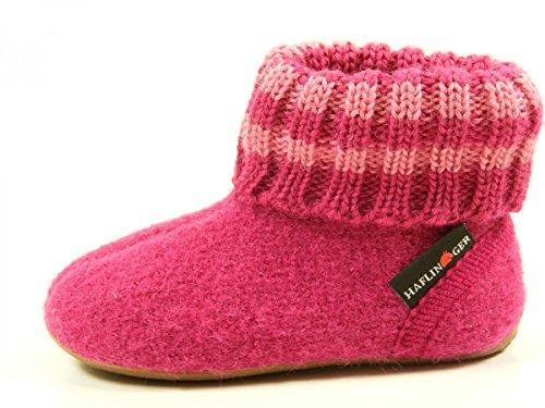 Haflinger 481007 Everest Pablo chaussons d'intérieur mixte enfant, größen kinder:24 EU;Farbe:rose