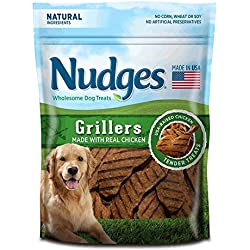 Nudges Grillers Dog Treats, Chicken, 10 Ounce