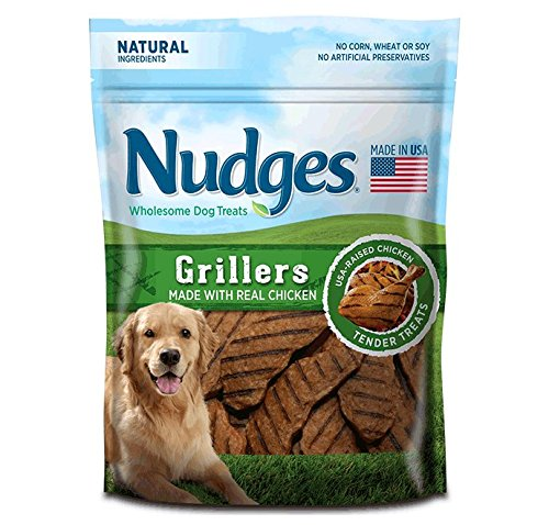 Nudges Chicken Grillers Dog Treats, 10 oz