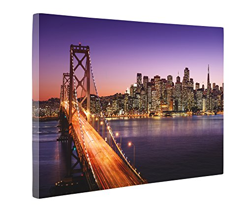 (Niwo Art (TM - San Francisco Cityscape Picture On Canvas - Giclee Wall Art for Home Decor, Gallery Wrapped, Stretched and Framed Ready to Hang (24