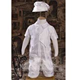 Baby Boys Off White Silk Dupioni Vested Baptism Coverall Size 3M