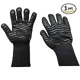 BesToop Heat Proof Gloves Silicone Food Grade,BBQ Gloves,Maximum...
