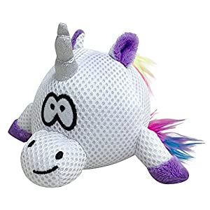 FOUFIT 85619 Rainbow Bright Spike Ball for Dogs, Unicorn, 5.5″