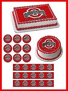 Amazon Com Ohio State Buckeyes Edible Cupcake Toppers