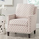 Cheap Safavieh Mercer Collection Buckler Club Chair, Peach Pink