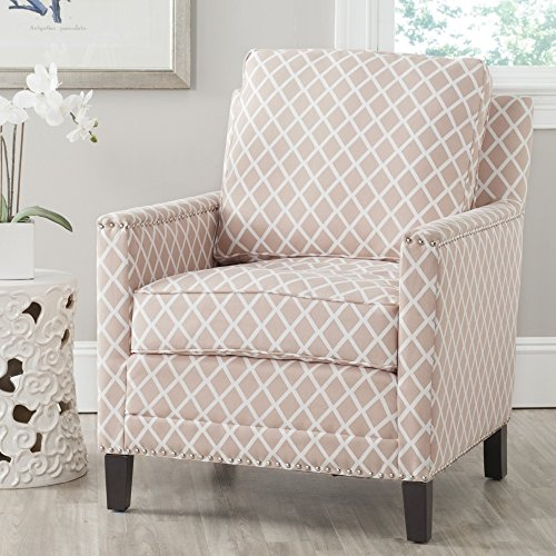 Safavieh Mercer Collection Buckler Club Chair, Peach Pink