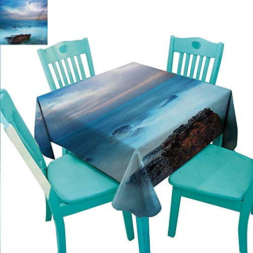 - Nature Fabric Dust-Proof Table Cover Tropic Sea with Rocks and Storm Flash in the Air Tranquil But Dangerous Epic Scenery Runners,Gatsby Wedding,Glam Wedding Decor,Vintage Weddings 54