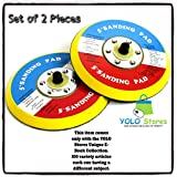 """Set of 2 Replacement Sanding Pad 5"""" DA Sander Polishing 4 Orbital High Quality-Durable By YOLO Stores"""