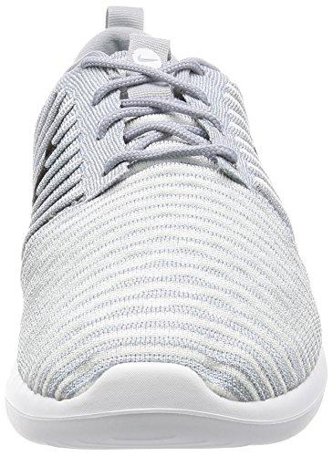 Nike Mens Roshe Due Scarpe Da Corsa Flyknit Lupo Grigio / Nero-bianco-blu Gamma