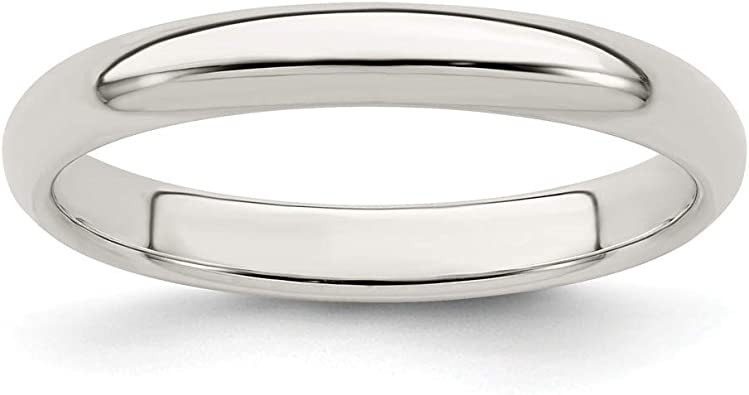 925 Sterling Silver 3mm Comfort Fit Flat Size 5 Wedding Ring Band Classic Fine Jewelry For Women Gift Set