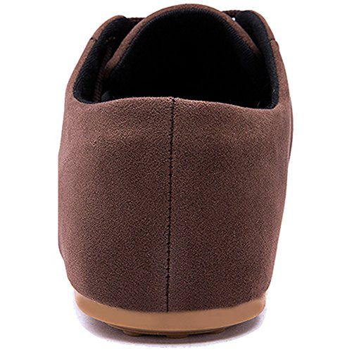 Rainlin Mens Casual Suede Leather Lace up Oxford Shoes Walking Flats Brown 5yEUbrMWS6