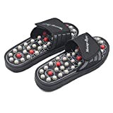 BYRIVER Therapeutic Acupuncture Massage Ball Flip Flops for Men Women Foot Relaxation Massager Plantar Fasciitis (BM)