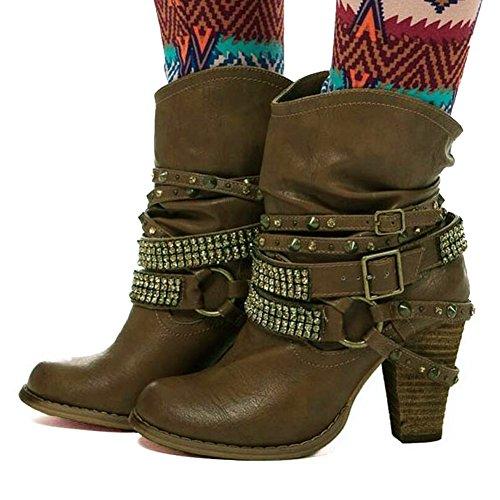 R Bottines Hiver Bottes Minetom Femme De Cheville Boots Chaudes Chaussures q4qw6xzcT