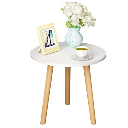 Perfect ZHAORU End Tables Nordic Simple Coffee Table Solid Wood Round Small Side  Table Bedroom Mini