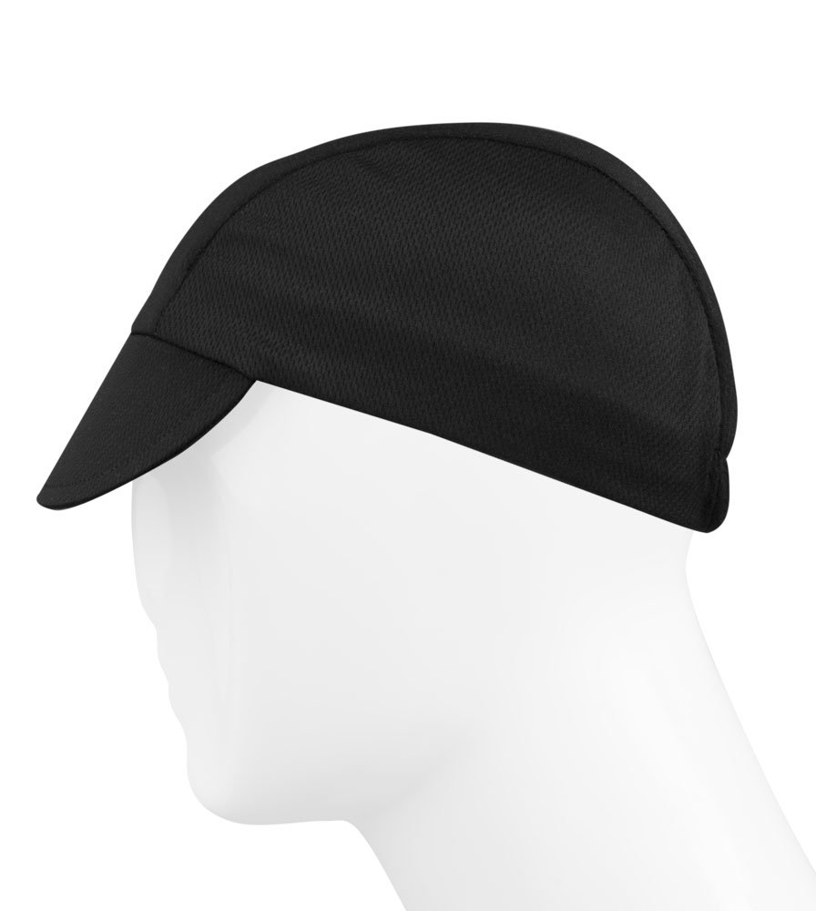 Black Cycling Cap - Made in the USA