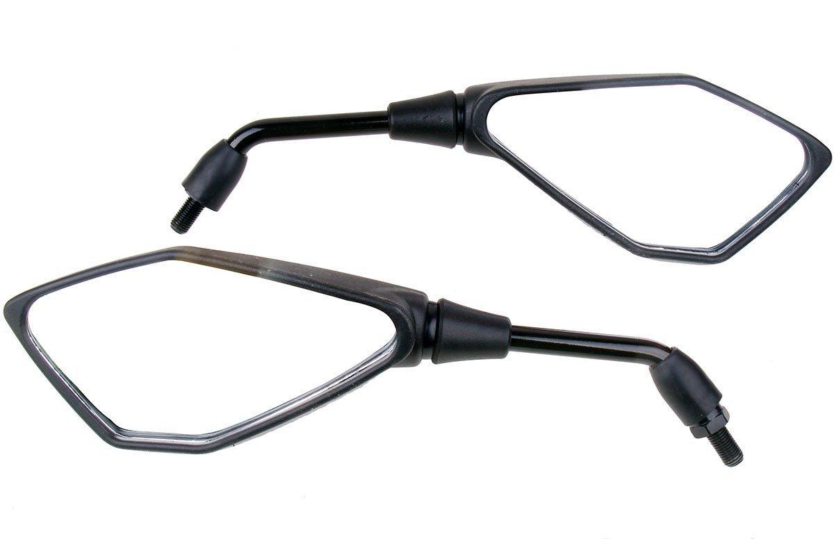 1Pair Black Rear View Mirrors For Honda CB Shadow VTX Ruckus 50