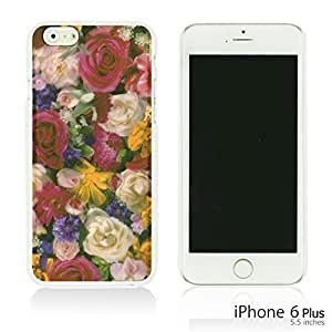 Flower Pattern Hardback Case Cover For Apple Iphone 4/4S Smartphone Rose Oil Painting