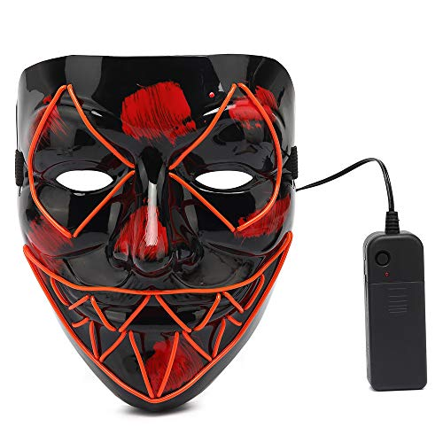Ansee Scary Halloween Mask Venom Costume Led Light Up Mask Eco-Friendly Material Cosplay for Halloween Festival Party