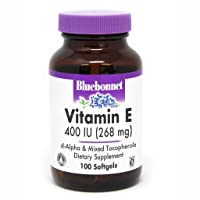 Bluebonnet Nutrition Vitamin E 400 IU d-alpha and Mixed Softgels, 100 Count