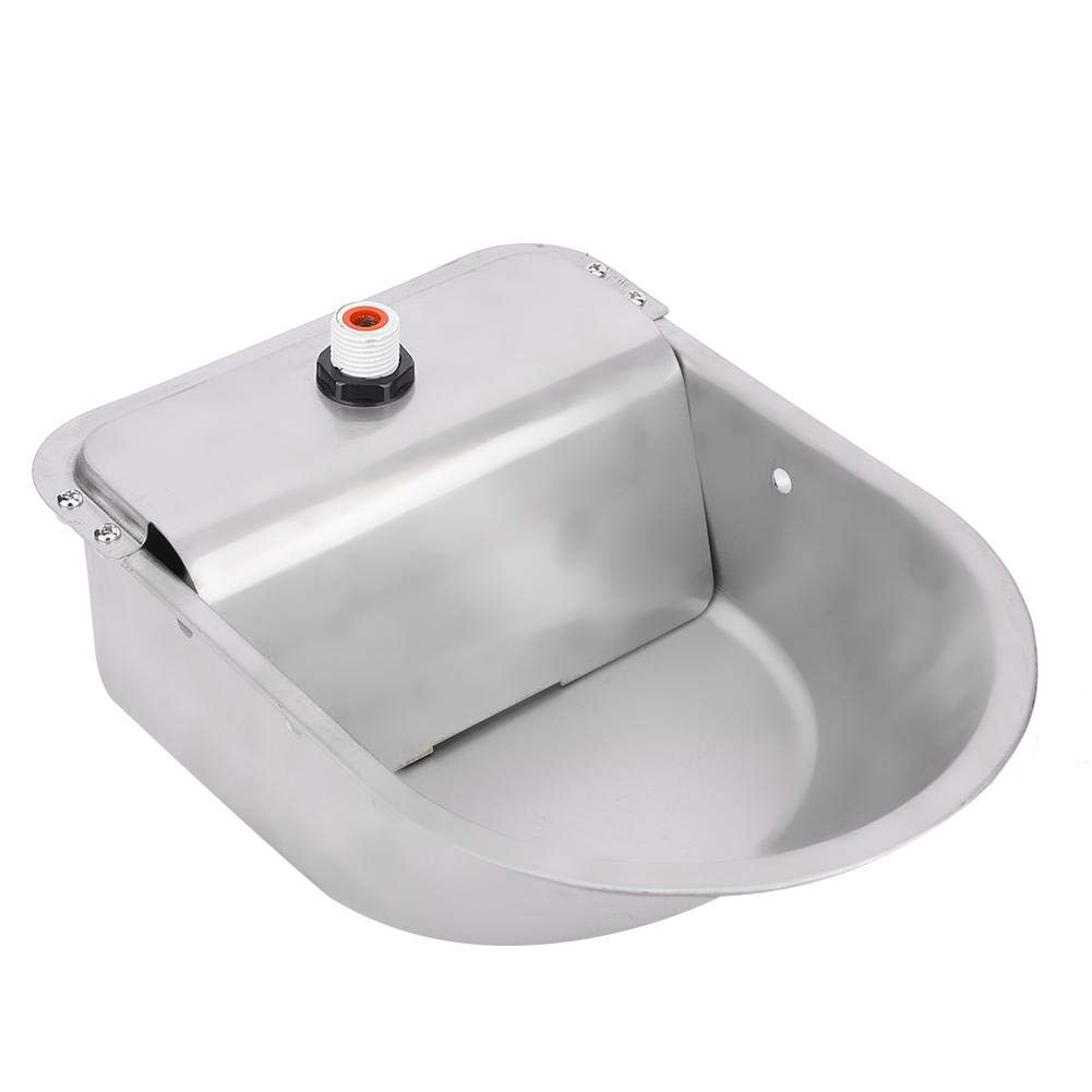 Hffheer Sheep Horse Cattle Automatic Watering Bowl Float-Ball Type Sheep Water Feeder Stainless Steel Water Dispenser for Horses Cows Goats Donkey Poultry Watering Supplies by Hffheer