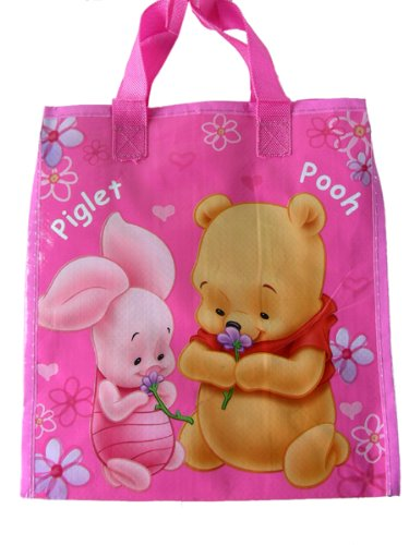 1329d8547571 Disney Winnie The Pooh and Friends Tote Handbag - kids shopping and  carrying bag (Pink