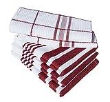 Dish Towels, Boldways 5 piece set, 100% cotton, Three 16