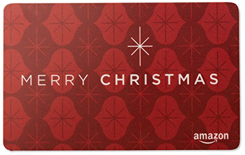 Large Product Image of Amazon.com Gift Card in a Red Ornament Tin (Merry Christmas Card Design)