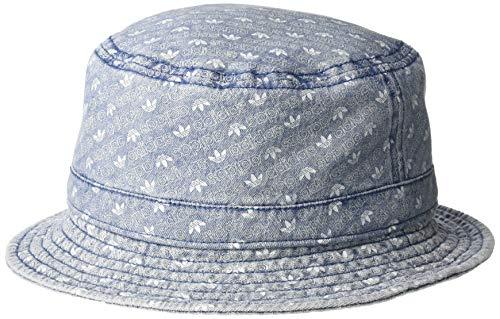 adidas Originals Originals Washed Bucket Hat, Denim Monogram Print, One -