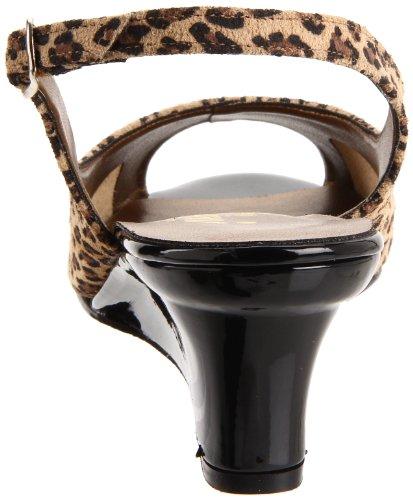 California Magdesians Kvinners Mirella-r Cheetah Slingback Pumpe Svart Patent
