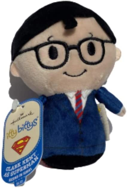 Hallmark Itty Bittys DC Super Hero Hallmark Superman as Clark Kent and Supergirl