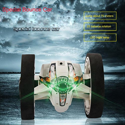 Gotd PEG-81 2.4GHz RC Bounce Car Shock Resistance Flexible Wheels Speed Switch LED Light, White by Goodtrade8