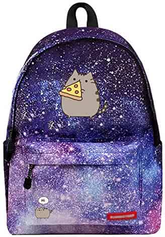 51c6dc9c2f YOURNELO Lovely Fashion Pusheen The Cat Galaxy School Backpack Rucksack (3)