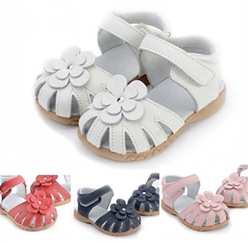 Toddler Baby Little Kid Boy Girl Genuine Leather Soft Closed Toe Fishman Beach Sandals Summer (Soft Kid Leather)