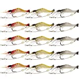Goture Fishing Soft Lures Shrimp Kit Lots Swimbait for Bass Saltwater and Freshwater
