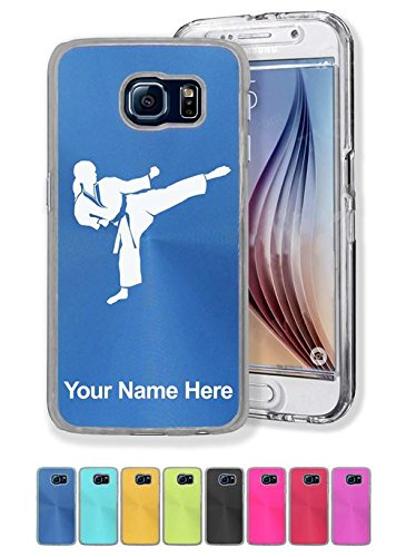 Case for Galaxy S6 - Karate Woman - Personalized Engravin...